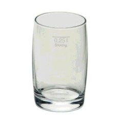 12 VanWell Matadorbecher Biergläser Glas mit Eichstrich 0,25l