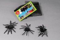 8 gruselige ecklige schwarze Plastik Spinnen