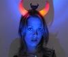 Teufelshörner rot leuchtender Haarreif mit Licht
