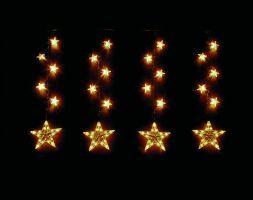 HELLUM STERNENKETTE 18-tlg. mit 18 Sternen Innen+Aussen