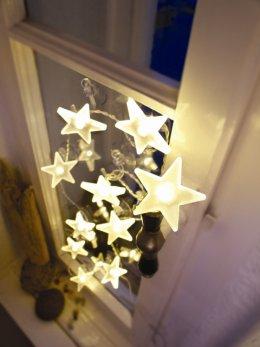 Hellum LED Sternenkette weiss / matt 10 teilig Innen Lichterkette