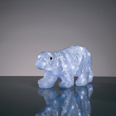 Hellum 575132 LED Eisbär weiss 39x17x21cm Innen- Aussendekoration