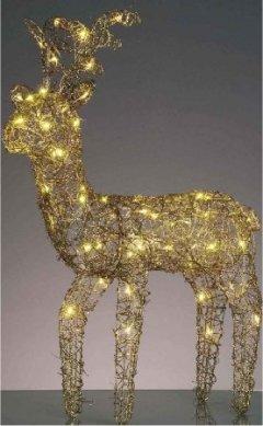 Hellum 575231 LED Rentier warm-weiss Höhe 105cm Innen- Aussendekoration