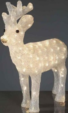 Hellum 575248 LED Rentier warm-weiss Höhe 50cm Innen- Aussendekoration