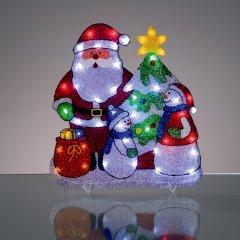 Hellum 575460 LED EVA Schneemann mit Geschenken Aussendekoration
