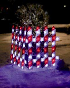 Hellum 575484 LED EVA festlicher Zaun 54x74cm Innen- Aussendekoration