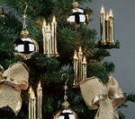 Triaden Lichterkette 48 Kerzen gold-metallic Hellum 678437