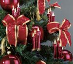 Triaden Lichterkette 48 Kerzen rot-metallic Hellum 678468
