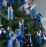 Triaden Lichterkette 48 Kerzen blau-metallic Hellum 678475