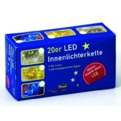 IDENA 20er Led-Lichterkette INNEN bunt