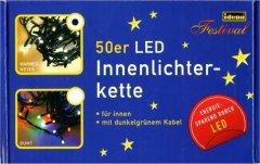 Idena 50er Led-Lichterkette innen warm weiss 832.5054