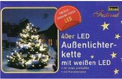 IDENA 40er Led-Lichterkette INNEN u. AUSSEN blau