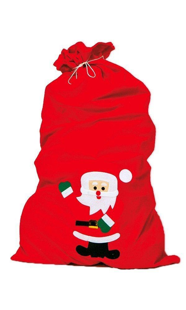 Weihnachtsmannsack 858.0196 Nikolaussack rot ca.90x60cm aus Filz