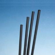 100 Stück Caipirinha Trinkhalme Set 12,5x0,5 cm schwarz