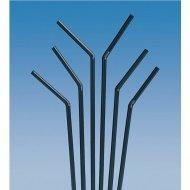250 Flexi-Trinkhalme 24x0,5 cm schwarz