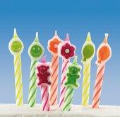 8 Geburtstagskerzen Tortenkerze Kerze mit Figuren