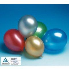 9 Ballons Metallic U:96cm D:30cm bunt sortierte Farben Luftballons