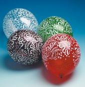 5 Luftballons mit Druck Happy Birthday bunt U:96cm 30 cm Durchmesser