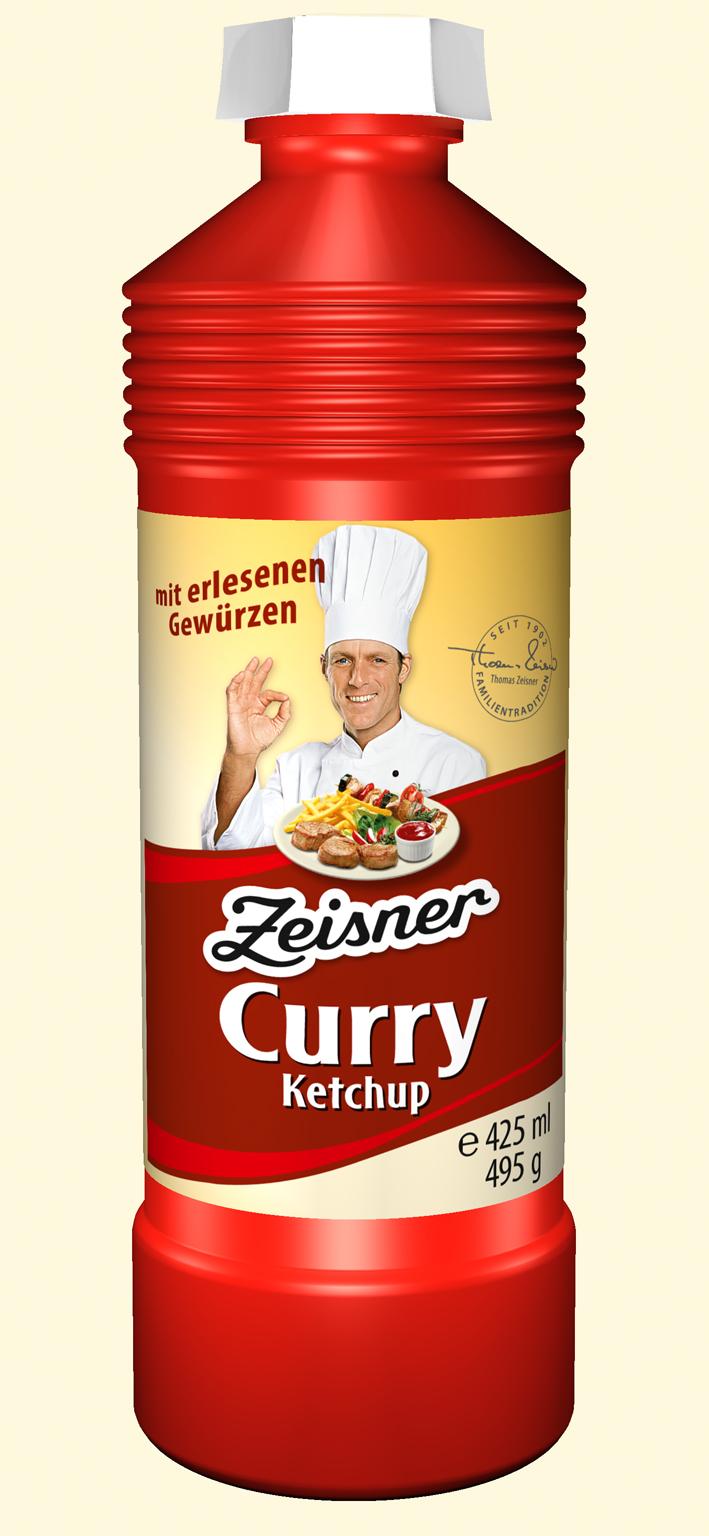 Zeisner Curry-Ketchup 425ml Flasche
