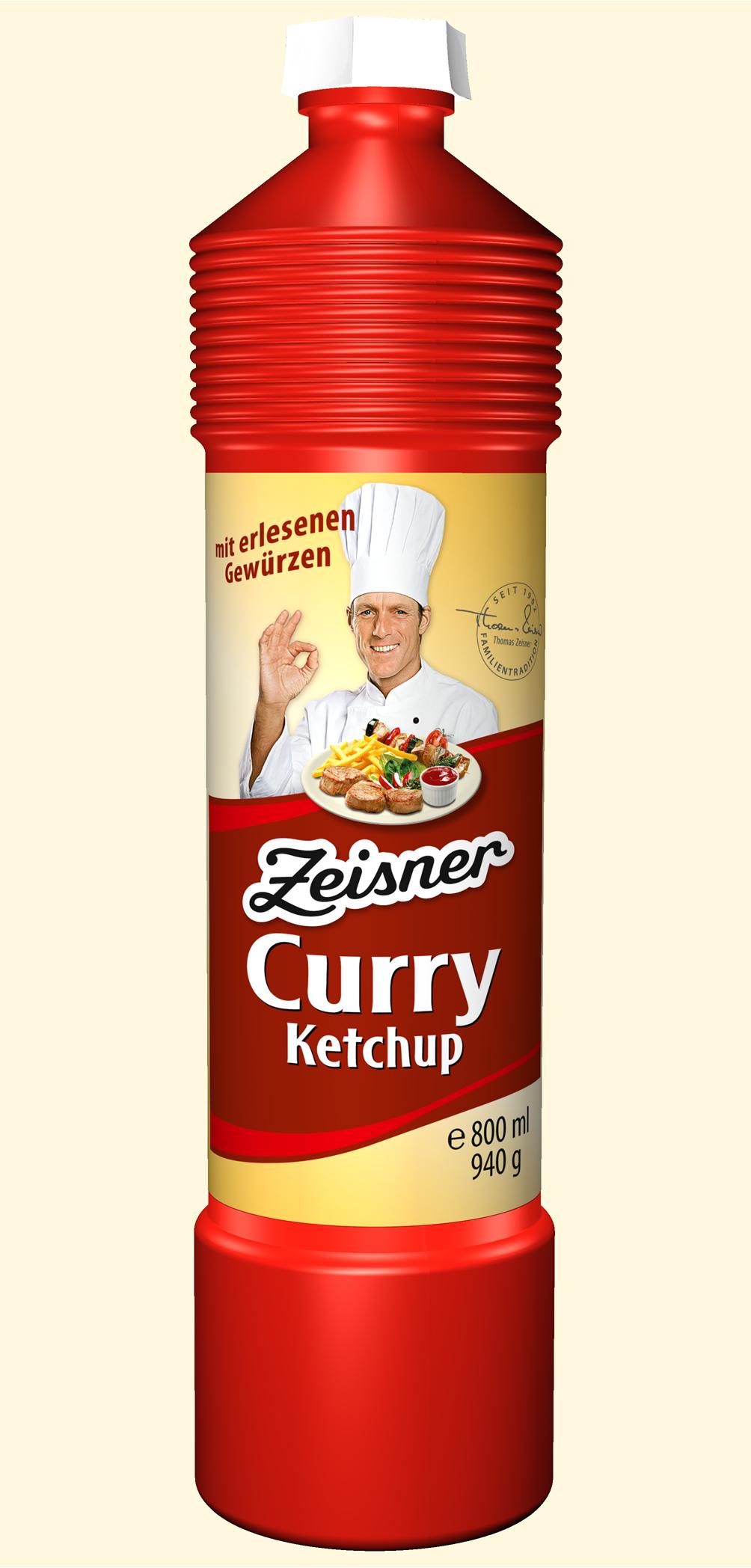 Zeisner Curry-Ketchup 800ml Flasche