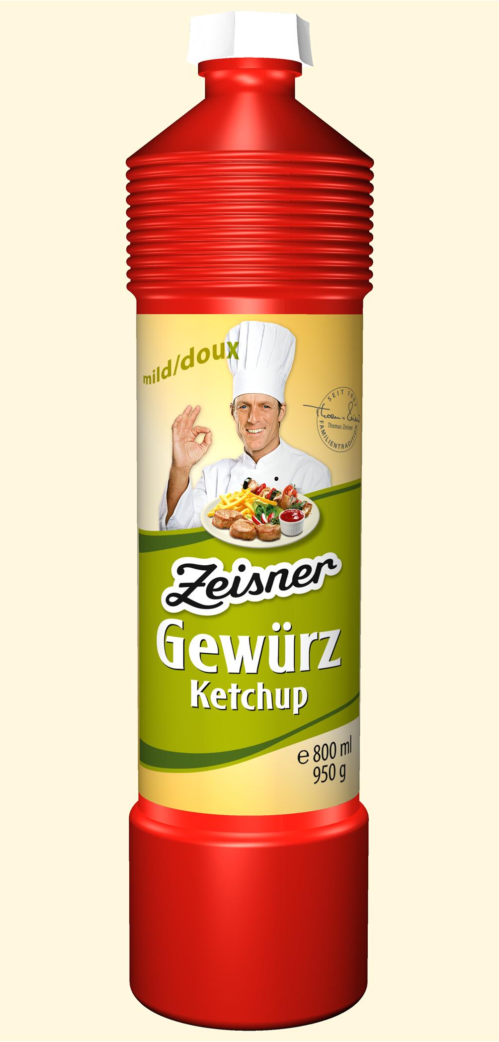 Zeisner Gewürz-Ketchup mild 800ml Flasche