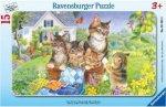 Ravensburger 06355 - Süße Kätzchen - 15 Teile Rahmenpuzzle