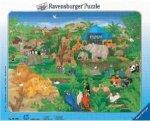 Ravensburger 06690 - Im Tiergarten, 45 Teile Rahmenpuzzle