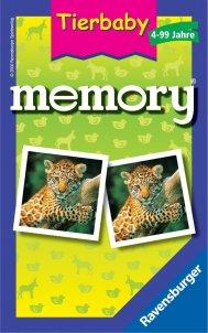 Ravensburger 23013 - Tierbaby Memory Mitbringspiel