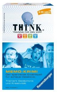 Ravensburger 23295 Think Kids Memo-Krimi Mitbringspiel