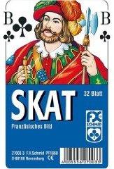 Skat französisches Bild Skat-Spielkarten 32 Blatt