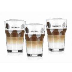 3 Kaffeegläser 33cl mit Motiv Latte Macchiato, Rastal
