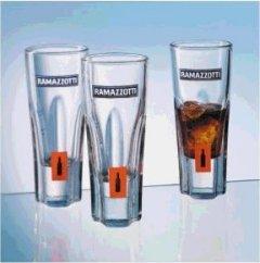 3 Orig. Ramazzotti Exclusivgläser mit Farblogo geeicht 2/4 cl Gläser
