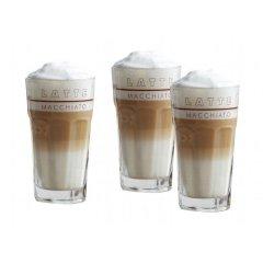 6 Kaffeegläser 34cl mit Motiv Latte Macchiato, Rastal