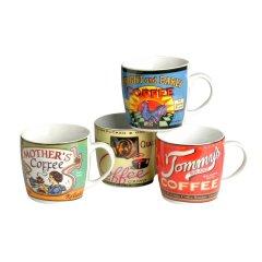 4 Kaffeetassen coffeebrands Becher Tommy´s Porzellan 28cl Kaffeebecher
