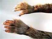 Krallenhände mit Plüschbesatz 1 Paar