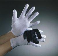 1 paar Baumwoll Handschuhe weiss kurz 100% Baumwolle