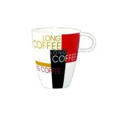 2er Set Kaffeebecher XXL 36.8cl Kaffee Becher Art Deco im Karton