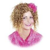 Perücke Cindy mit Blume - Pummelfee Lockenperücke blond