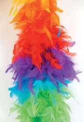 Federboa ca. 180 cm lang, regenbogen bunt