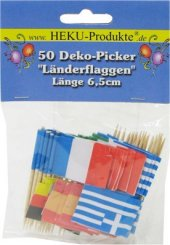 50 Dekopicker Flaggen-Picker Flaggenpicker Europa inkl. Spanien