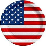 10 Pappteller Ø 23cm USA Stars & Stripes