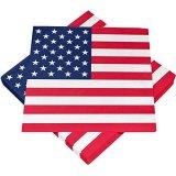 20 Servietten 3-lagig 33x33cm USA Stars & Stripes