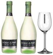 Scavi & Ray Hugo Prosecco Bundle 2x0,75L +1 Leonardo daily Glas Gläser