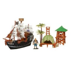 Rasehorn 38960 - Piratenschiff 28 cm mit Figur und Zubehör