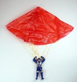 12 er Set Fallschirmspringer 11cm zum Hochwerfen und loslassen