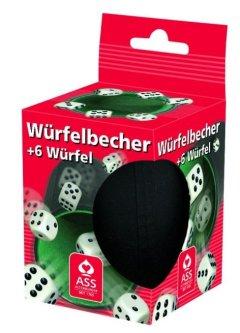 ASS Altenburger 06642 Plastik Würfelbecher mit Filzeinlage + 6 Würfel