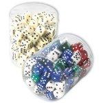 ASS Augenwürfel in Rundbox elfenbeinfarben (Inhalt: 100 Stück)
