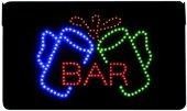 LED Leuchtschild BAR 230V, 40cm lang