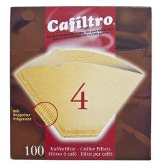 100 Kaffeefilter braun Größe 4