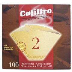 100 Kaffeefilter braun Größe 2